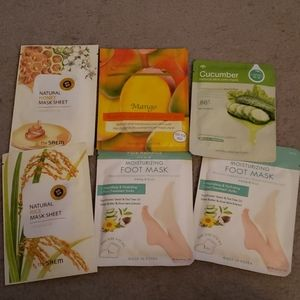 Other - 6x Face & Foot Mask Variety Bundle Mango Honey